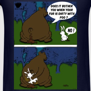 Bear Paw When a Bear poos in the woods Long Sleeve Shirts - Men's T-Shirt