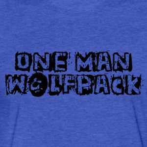 One Man Wolfpack - Fitted Cotton/Poly T-Shirt by Next Level