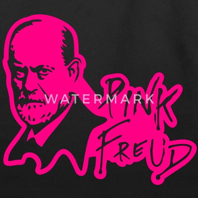 PINK FREUD High Quality Printing for Dark Colors Bags & backpacks - Eco-Friendly Cotton Tote