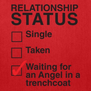 WAITING FOR AN ANGEL IN A TRENCHCOAT - Tote Bag