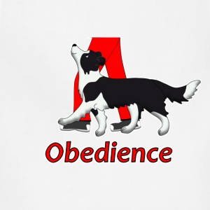 obedience border collie 2 T-Shirts - Adjustable Apron