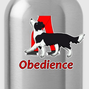 obedience border collie 2 T-Shirts - Water Bottle