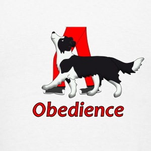obedience border collie 2 Long Sleeve Shirts - Men's T-Shirt