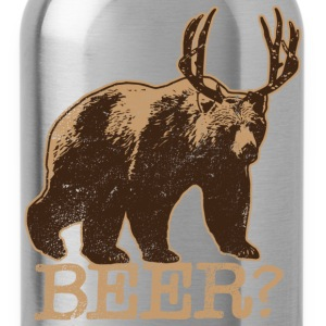 Bear + Deer = BEER - Tee - Brown - Water Bottle