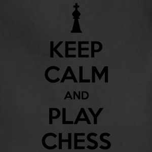 Keep Calm and Play Chess Men's T-shirt - Adjustable Apron