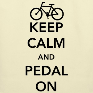 Keep Calm and Pedal On T-Shirts - Eco-Friendly Cotton Tote