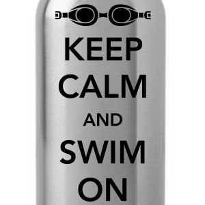 Keep Calm and Swim On T-Shirts - Water Bottle