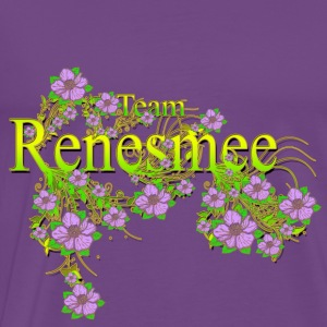 Team Renesmee floral Lavender Flowers yellow Gold Hoodies - Men's Premium T-Shirt