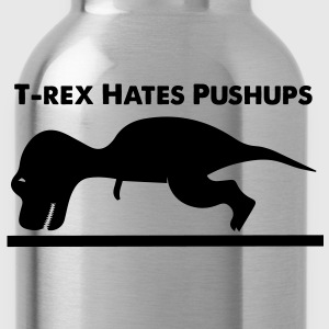 T-Rex Hates Pushups - Water Bottle