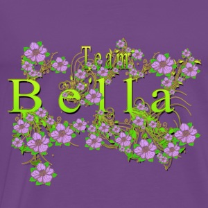 Team Bella Floral Lavender Flowers yellow Gold Hoodies - Men's Premium T-Shirt