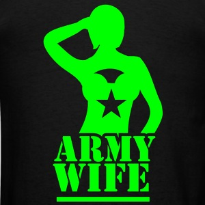Sexy lady ARMY wife saluting Hoodies - Men's T-Shirt