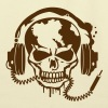 Skull with headphones. Bags  - Eco-Friendly Cotton Tote