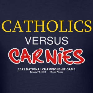 Catholics vs Carnies - Men's T-Shirt