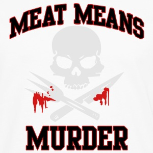 Meat means Murder Tanks - Men's Premium Long Sleeve T-Shirt