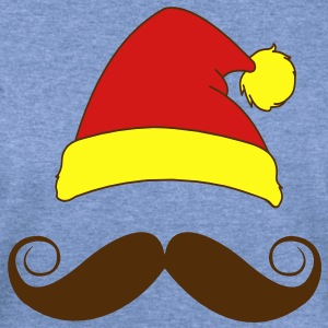 Santa's Stache T-Shirts - Women's Wideneck Sweatshirt