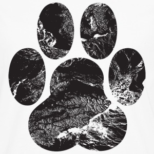 Paw Print Hoodies - Men's Premium Long Sleeve T-Shirt