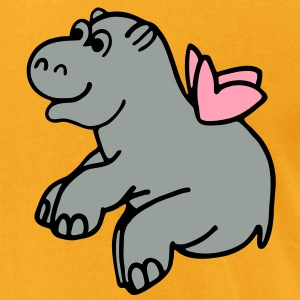 Flying hippo 2 Bags  - Men's T-Shirt by American Apparel