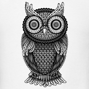 ornamental Owl Design black and white Other - Men's T-Shirt