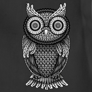ornamental Owl Design black and white Hoodies - Adjustable Apron