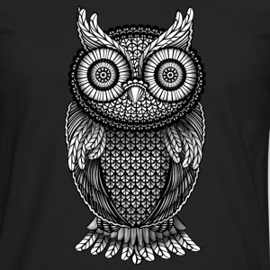 ornamental Owl Design black and white Hoodies - Men's Premium Long Sleeve T-Shirt