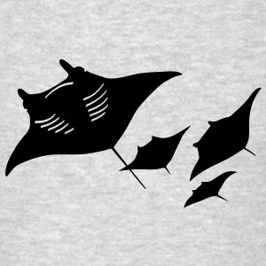 manta ray sting scuba diving diver dive Long Sleeve Shirts - Men's T-Shirt