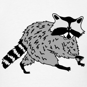 raccoon coon racoon bear animal forest cute Hoodies - Men's T-Shirt