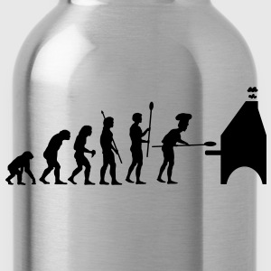 evolution_pizza T-Shirts - Water Bottle