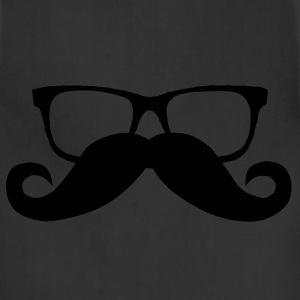 Hipster Glasses and Mustache - Adjustable Apron