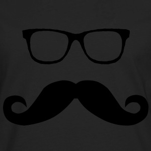 Hipster Glasses and Mustache - Men's Premium Long Sleeve T-Shirt