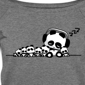 Sleeping Pandas T-Shirt - Women's Wideneck Sweatshirt