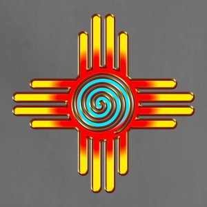 Zia Sun Spiral, Zia Pueblo, New  Mexico I T-Shirts - Adjustable Apron