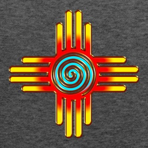 Zia Sun Spiral, Zia Pueblo, New  Mexico I T-Shirts - Women's Flowy Tank Top by Bella