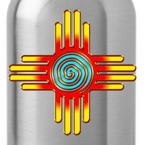 Zia Sun Spiral, Zia Pueblo, New  Mexico I T-Shirts - Water Bottle