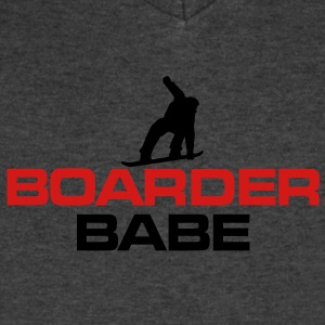 Boarder Babe Snowboard T-Shirt - Men's V-Neck T-Shirt by Canvas