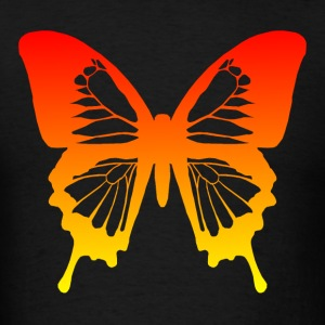 Butterfly - Red to Yellow Hoodies - Men's T-Shirt