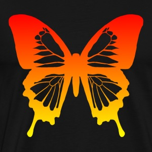 Butterfly - Red to Yellow Hoodies - Men's Premium T-Shirt