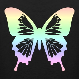 Butterfly - Pastel Rainbow Women's T-Shirts - Men's Premium Tank