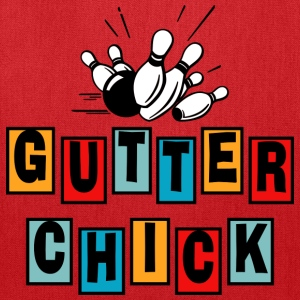 Bowling Gutter Chick T-Shirt - Tote Bag