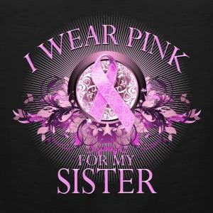 I Wear Pink for my Sister (floral) Hoodies - Men's Premium Tank