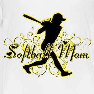 Softball Mom (silhouette) Kids' Shirts - Toddler Premium T-Shirt