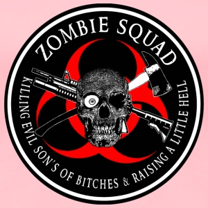 Zombie Squad 3 Ring Patch outlined Sweatshirts - Women's Premium T-Shirt