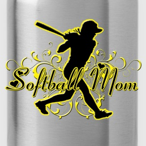 Softball Mom (silhouette) Women's T-Shirts - Water Bottle
