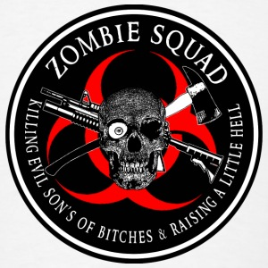 Zombie Squad 3 Ring Patch outlined Other - Men's T-Shirt