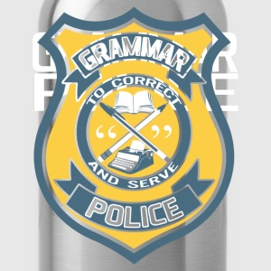 Grammar Police Badge T-Shirts - Water Bottle