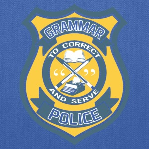Grammar Police Badge T-Shirts - Tote Bag