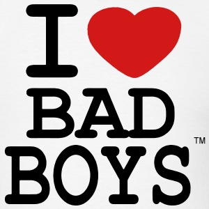 I LOVE BAD BOYS Long Sleeve Shirts - Men's T-Shirt