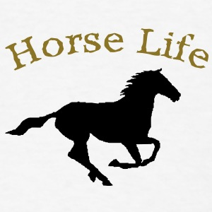 Horse life button - Men's T-Shirt
