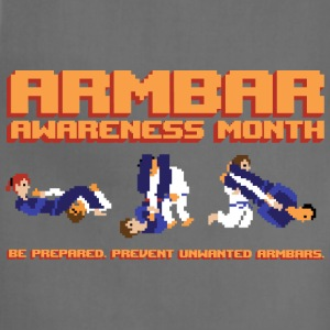 Armbar Awareness Month retro BJJ t-shirt - Adjustable Apron