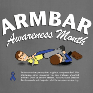 Armbar Awareness Month funny BJJ t-shirt - Adjustable Apron
