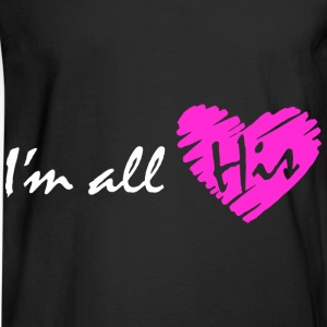 I'm all his (couple - girl) Hoodies - Men's Long Sleeve T-Shirt